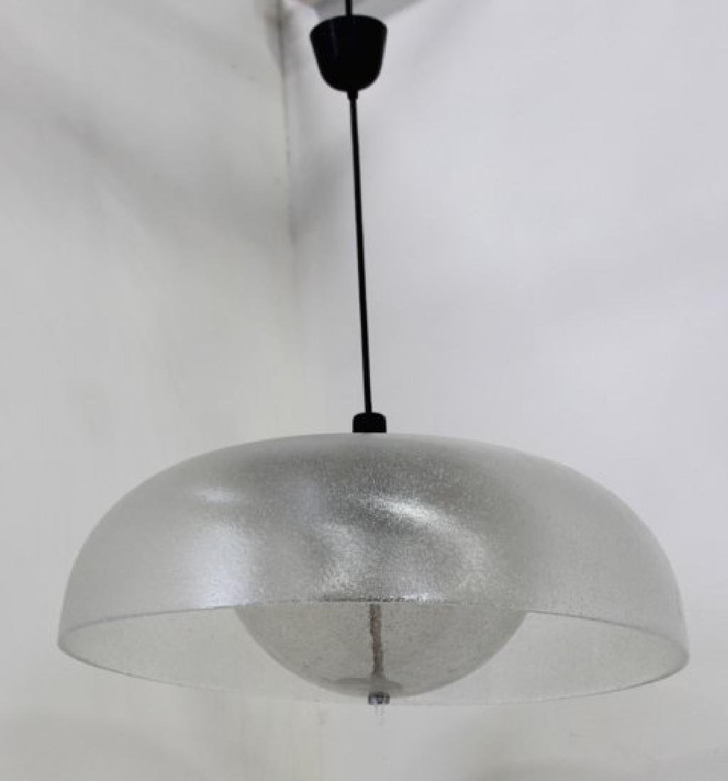 Mid-Century Modern Frosted Glass Chandelier