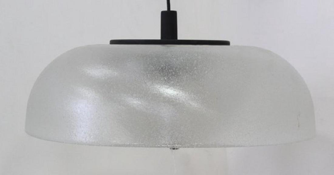Mid-Century Modern Frosted Glass Chandelier - 3