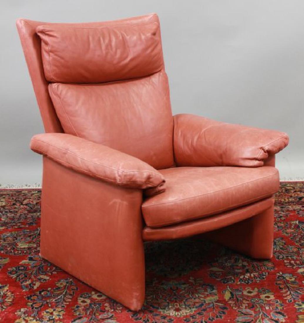 Mid-Century Modern Leather Armchair