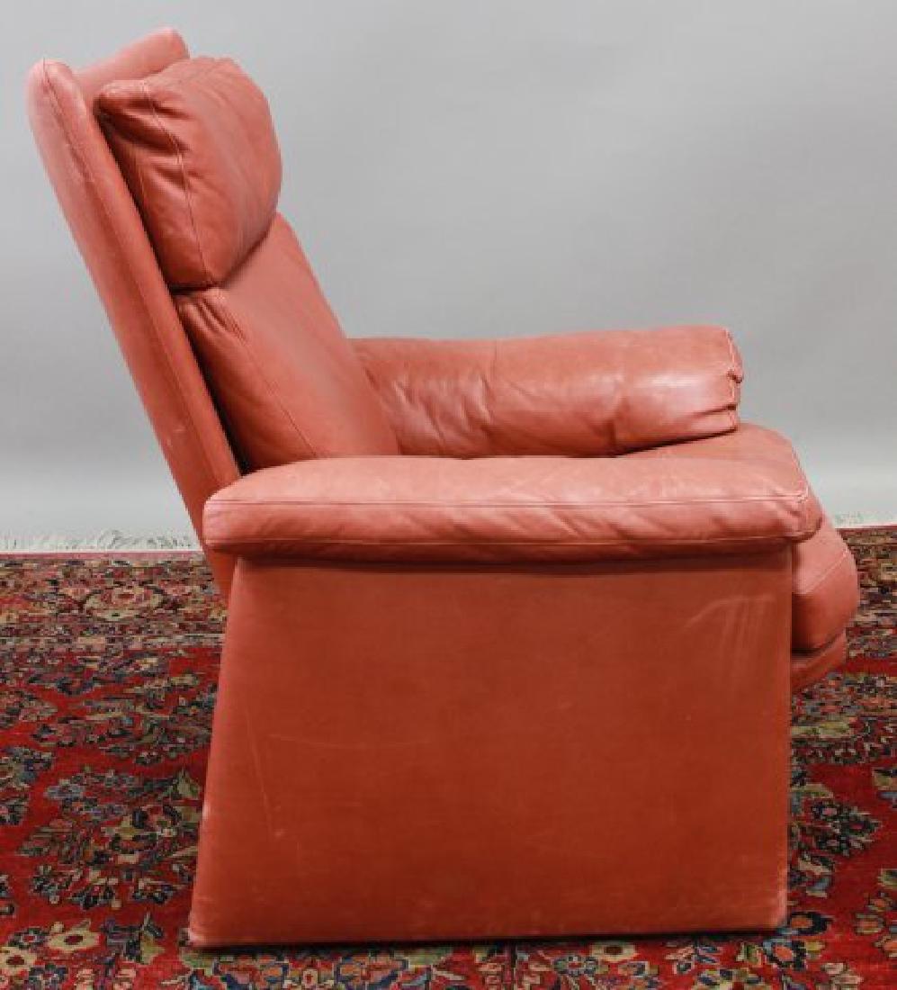 Mid-Century Modern Leather Armchair - 4