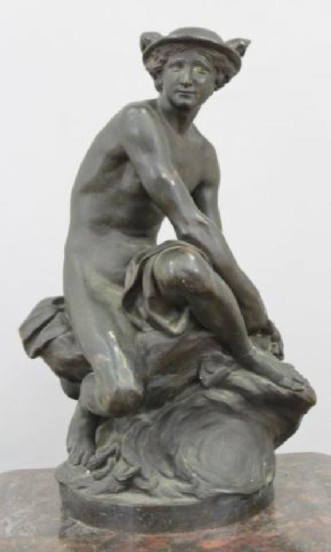 :19th Century Bronze Sculpture of Mercury