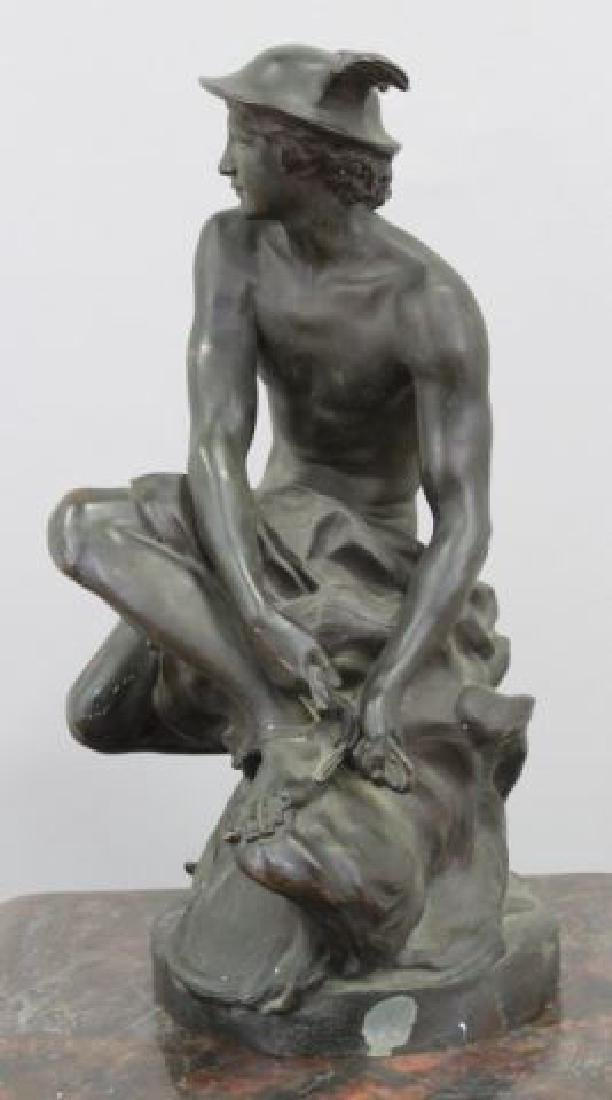 :19th Century Bronze Sculpture of Mercury - 3