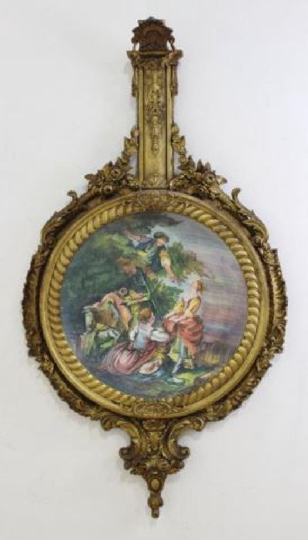 :19th C. Handpainted Porcelain Charger