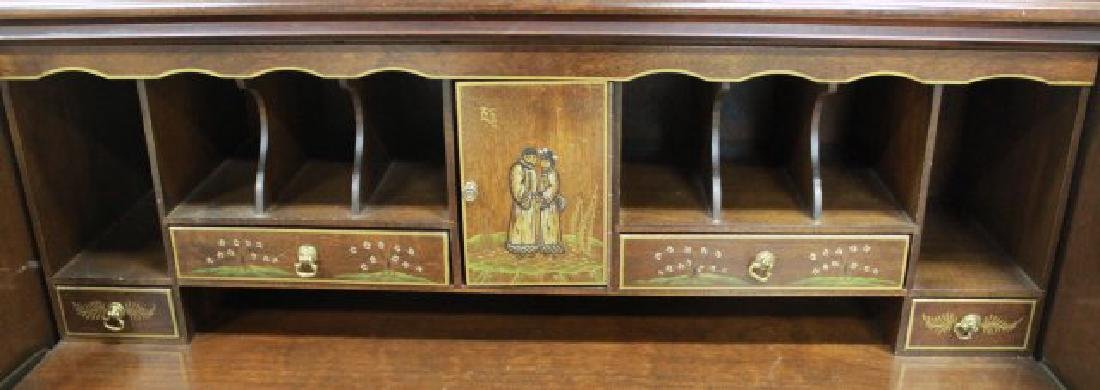 George III Style Chinoiserie Slant Front Bookcase - 4