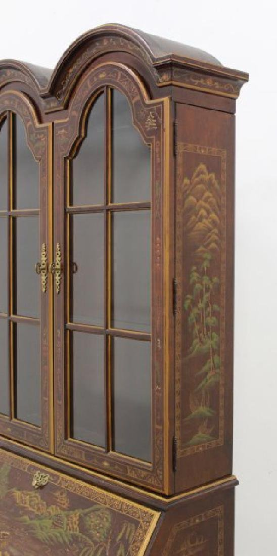 George III Style Chinoiserie Slant Front Bookcase - 8
