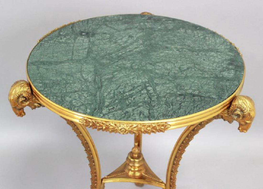 French Marble Top Bronze Gueridon - 2