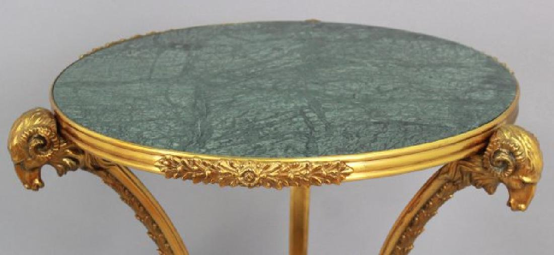 French Marble Top Bronze Gueridon - 3