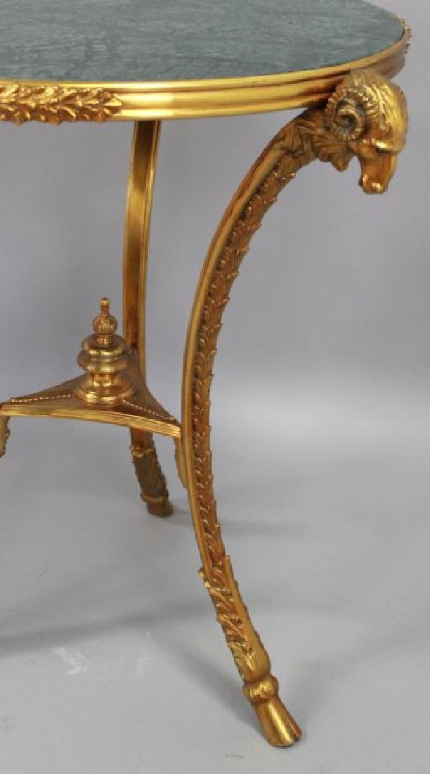 French Marble Top Bronze Gueridon - 4