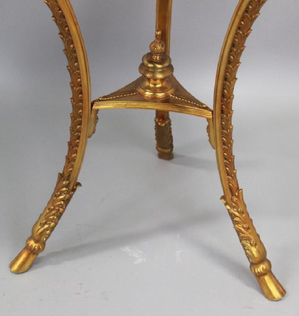 French Marble Top Bronze Gueridon - 6