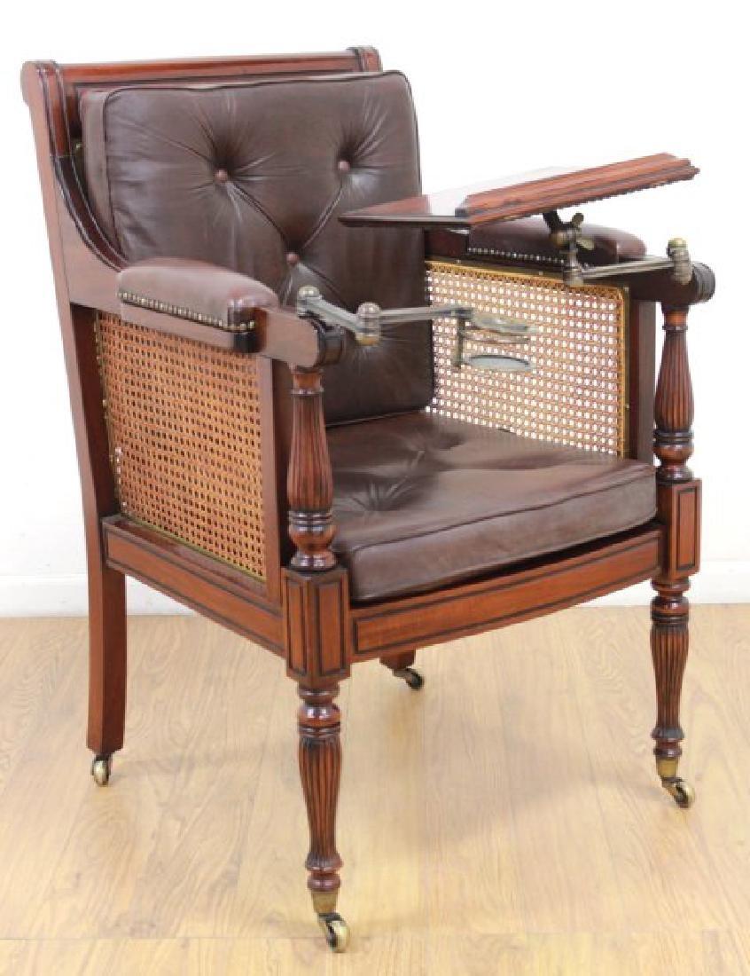 English Mahogany Writer's Chair