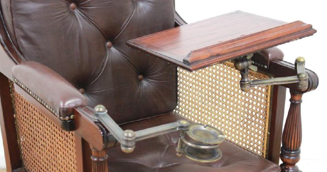 English Mahogany Writer's Chair - 2