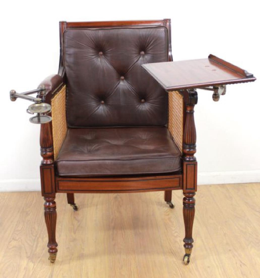 English Mahogany Writer's Chair - 3