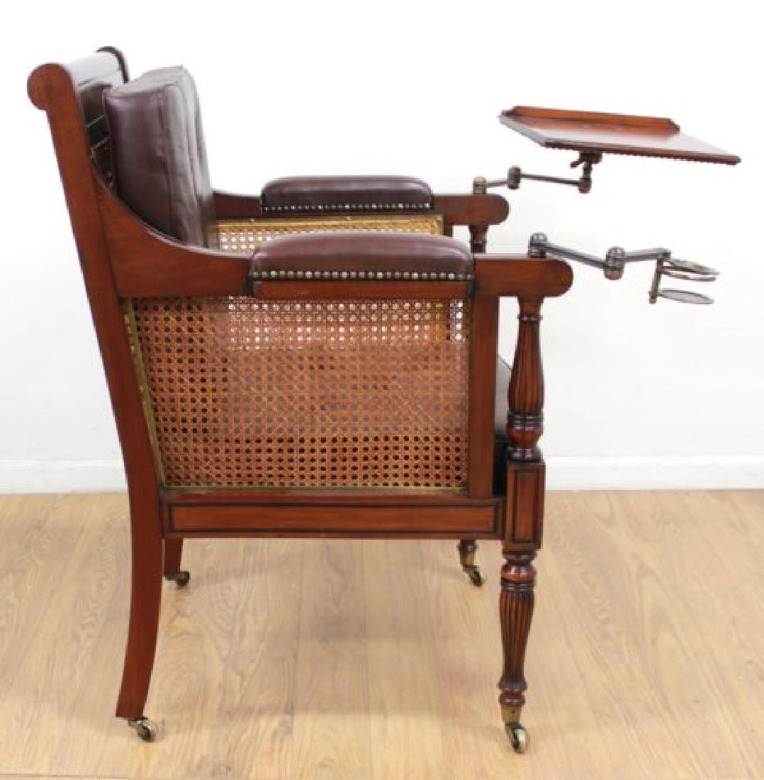 English Mahogany Writer's Chair - 4