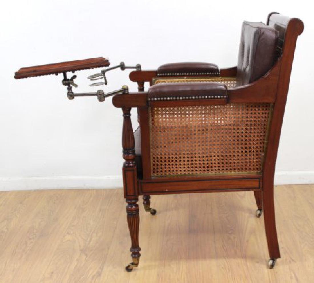 English Mahogany Writer's Chair - 5
