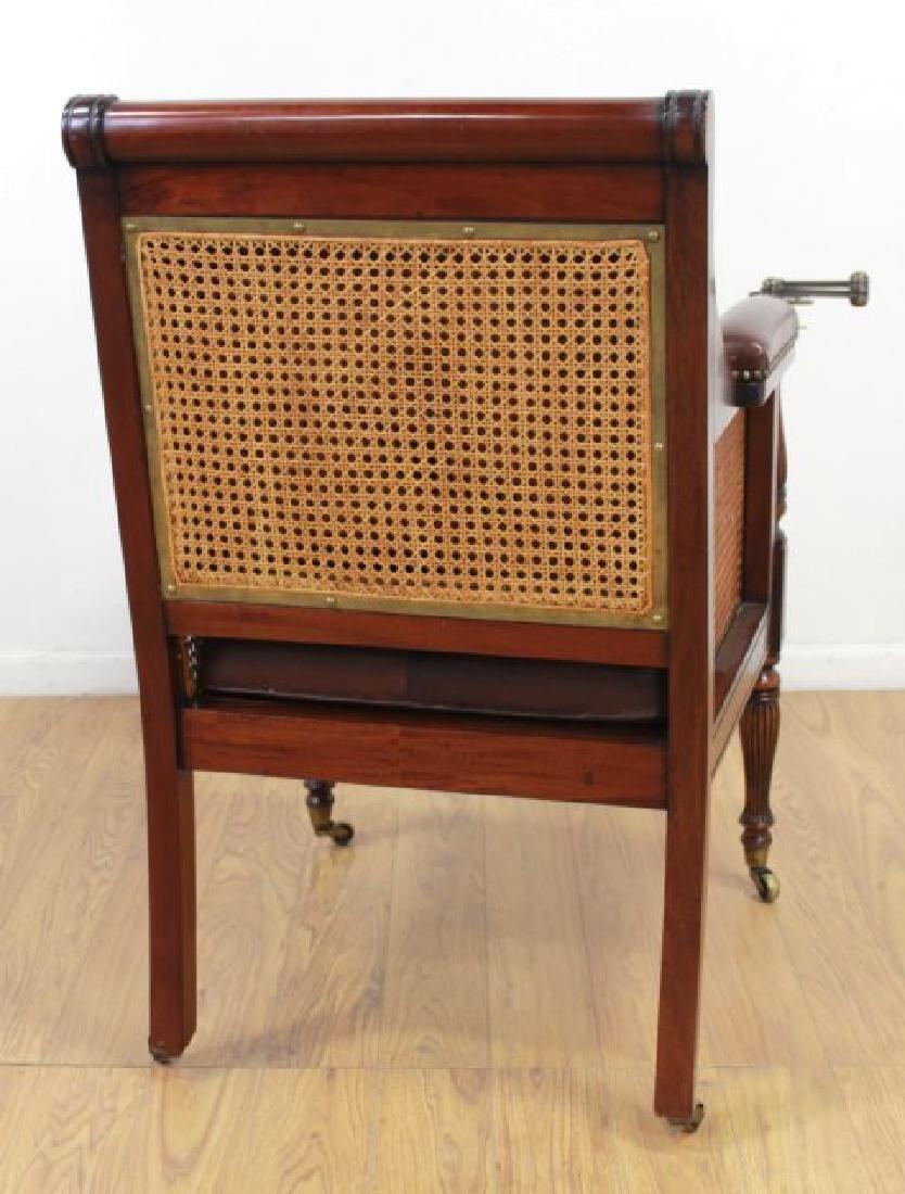 English Mahogany Writer's Chair - 6