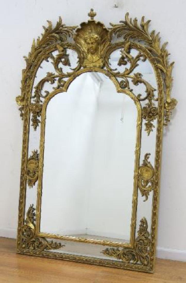 :Regency Carved Giltwood Mirror