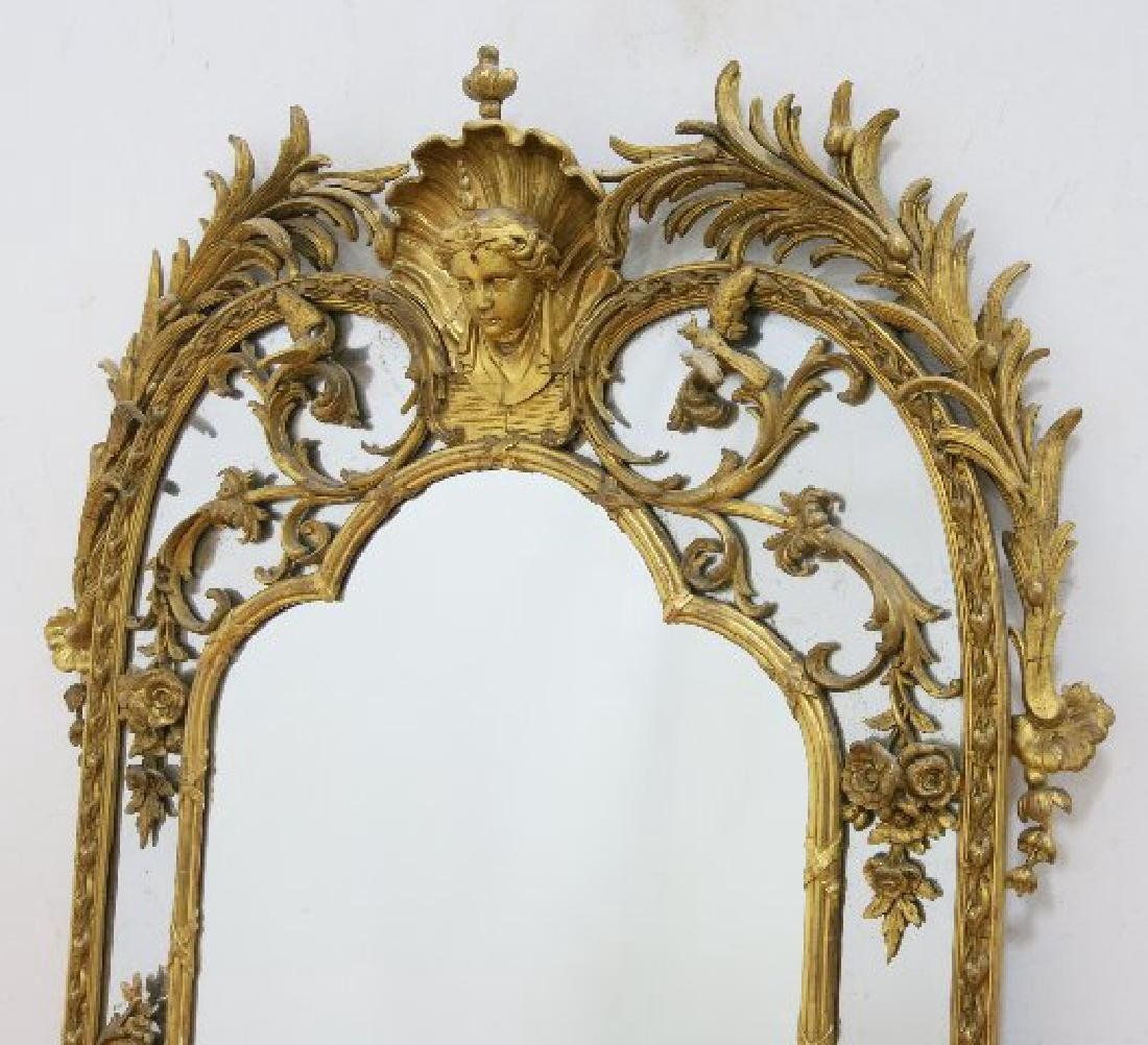 :Regency Carved Giltwood Mirror - 2