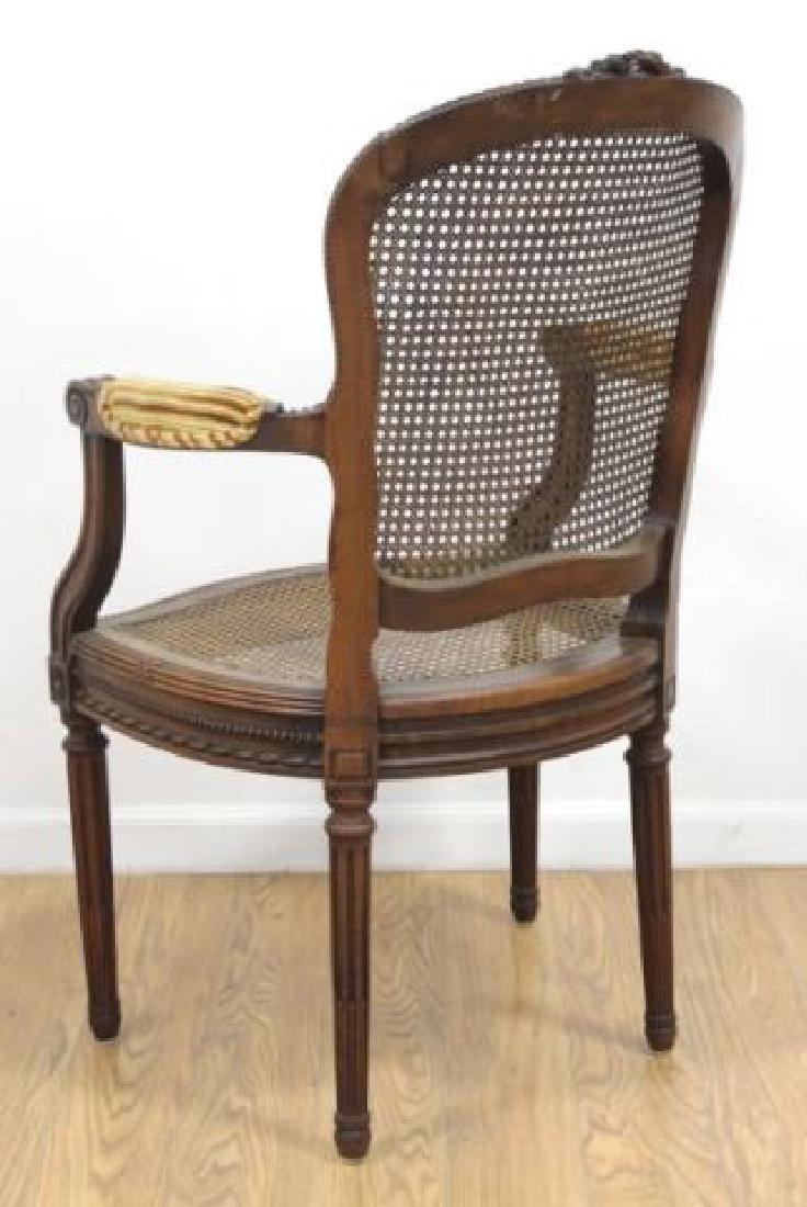 :Pair Louis XVI Style Carved Walnut Fauteuils - 4