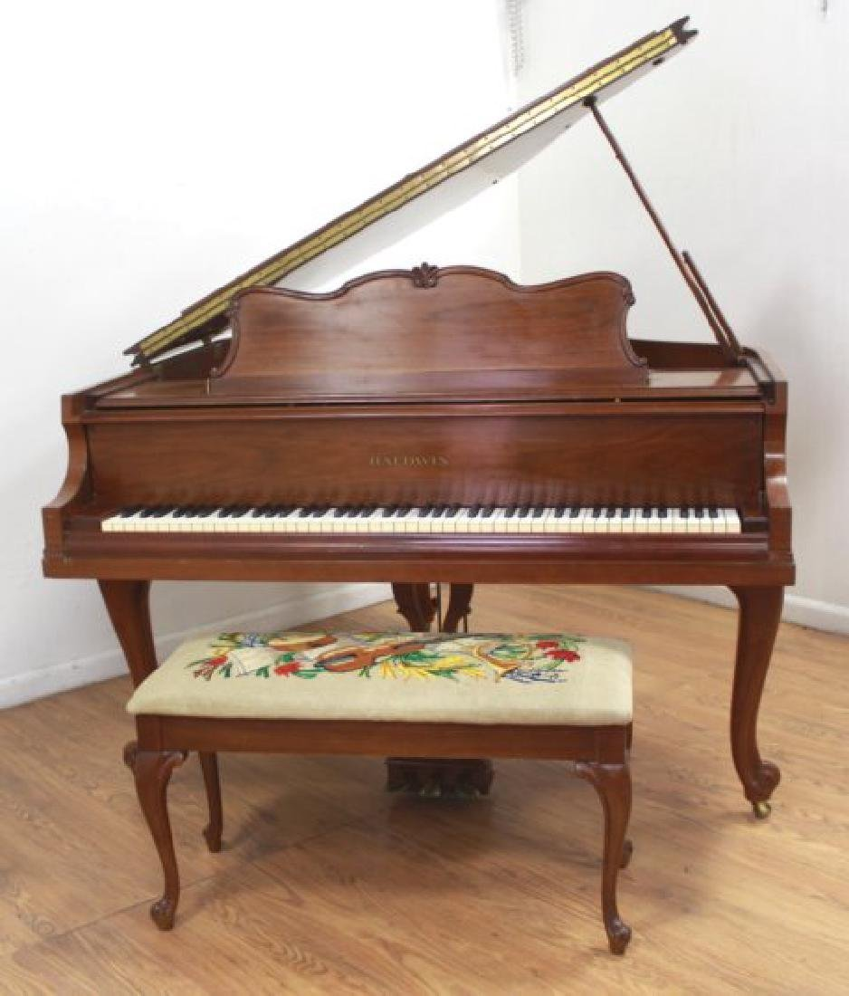 Baldwin French Leg Walnut Finish Baby Grand Piano