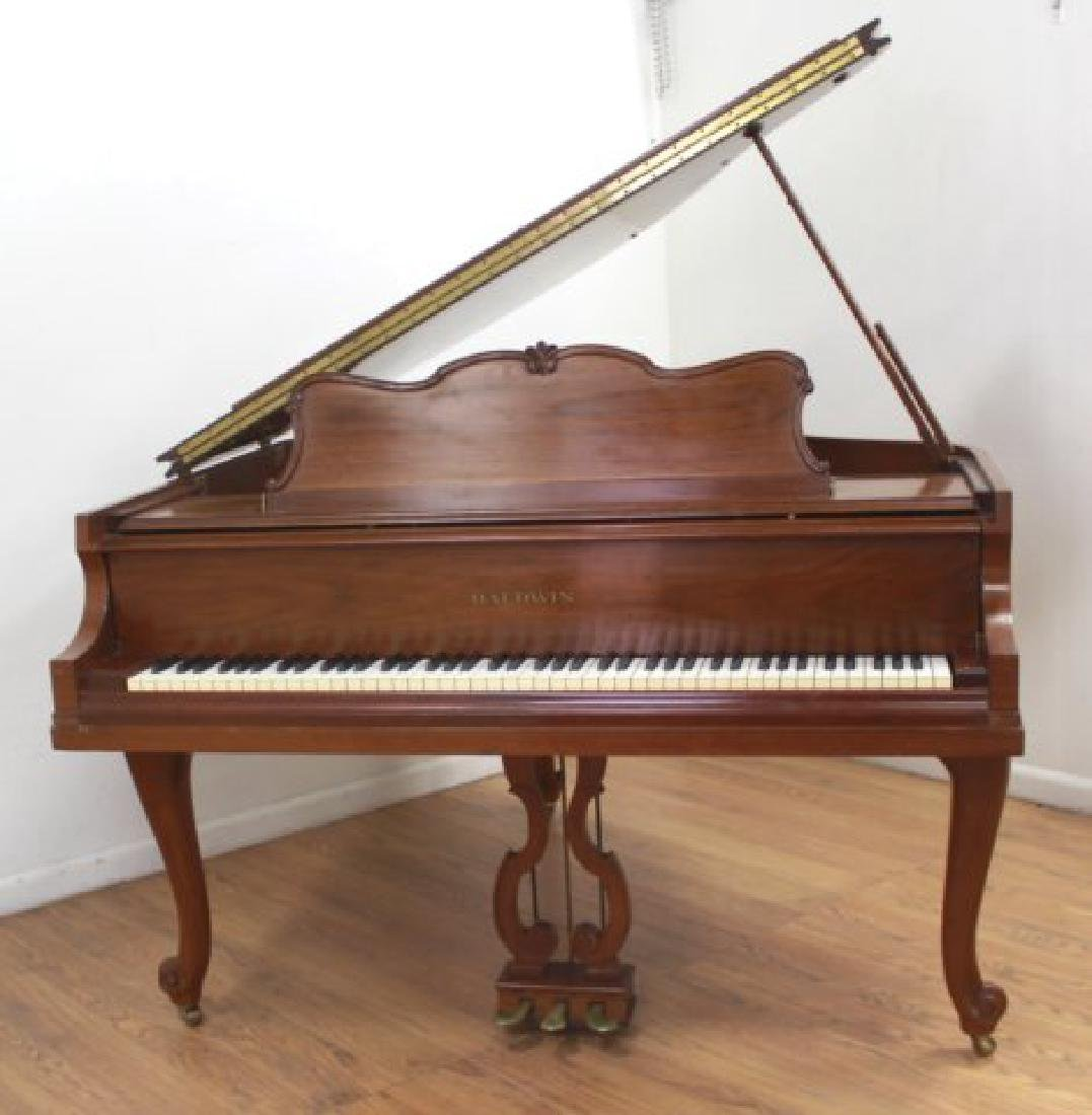 Baldwin French Leg Walnut Finish Baby Grand Piano - 2