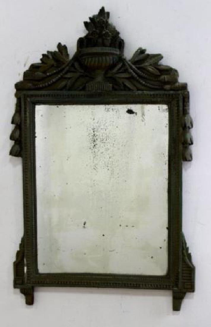 :Late 18th Century Carved Wood & Gesso Mirror
