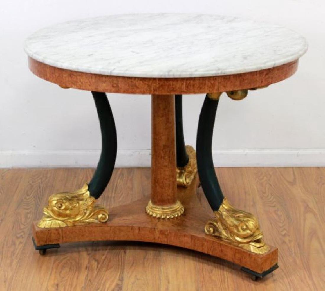 :Russian Marble Top Round Center Table
