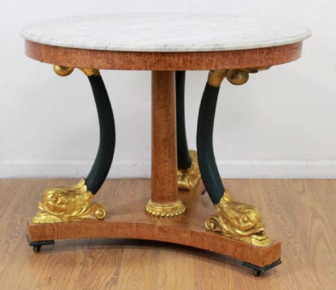 :Russian Marble Top Round Center Table - 3