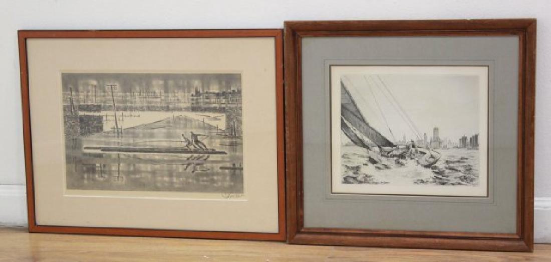 George Schreiber & Leon Pescheret, 2 Engravings
