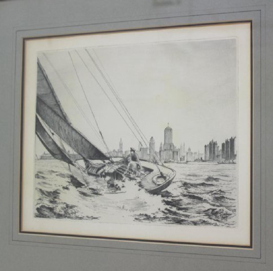 George Schreiber & Leon Pescheret, 2 Engravings - 3
