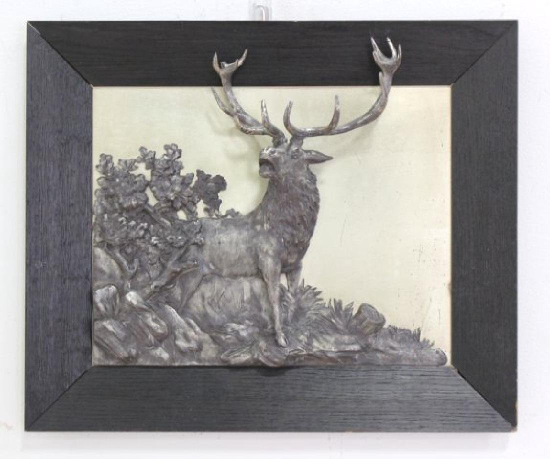 :Georg Bommer Figural White Metal Relief Plaque