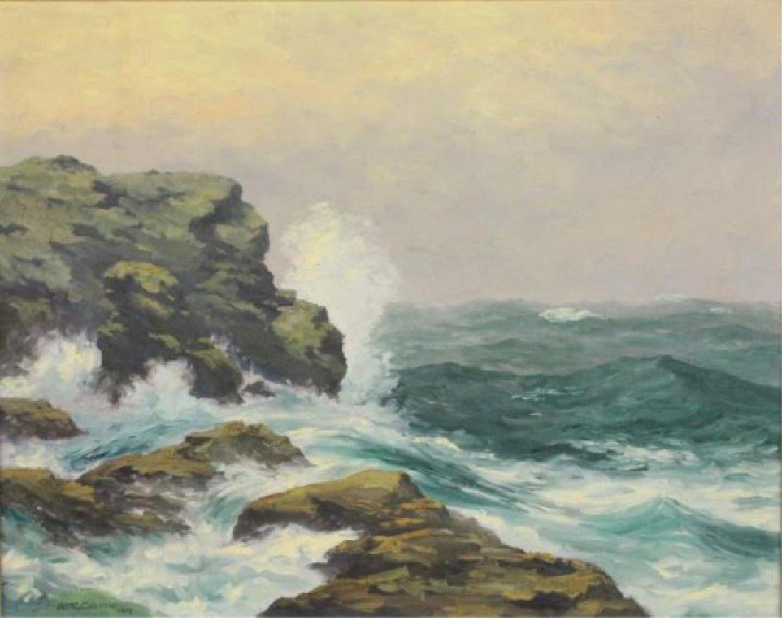 ":Wm. Reuben Clark Wood, ""Rocky Coast Line"" - 2"