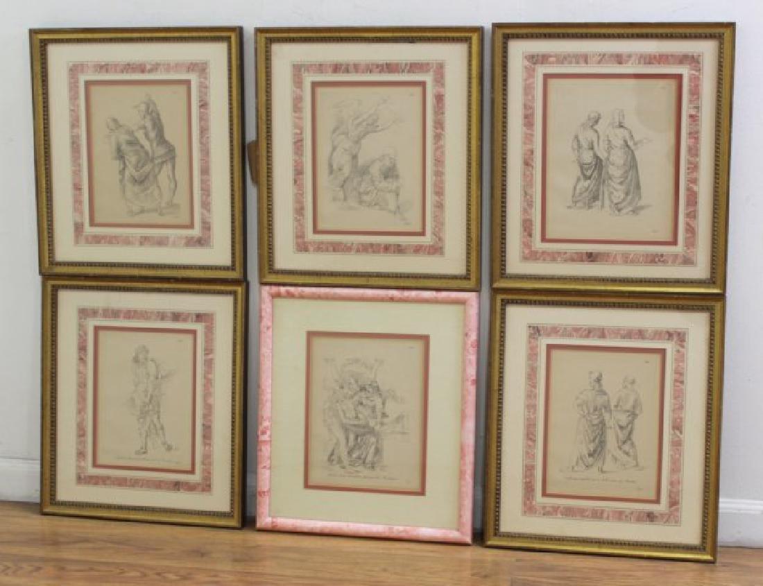 After Raphael, 6 Framed Prints
