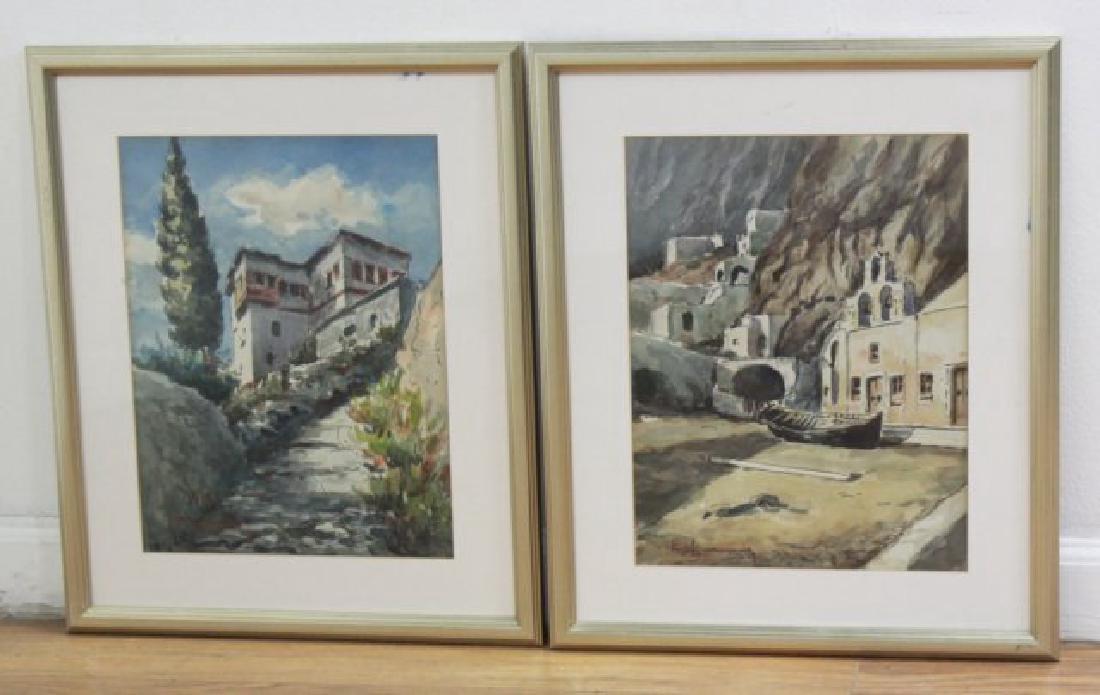 Walter Eck, Pair Mediterranean Scenes