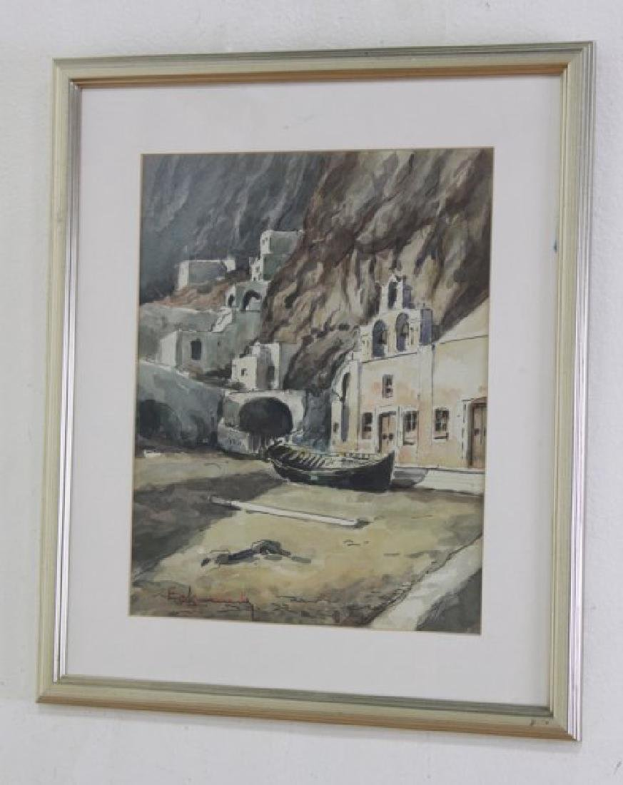 Walter Eck, Pair Mediterranean Scenes - 3