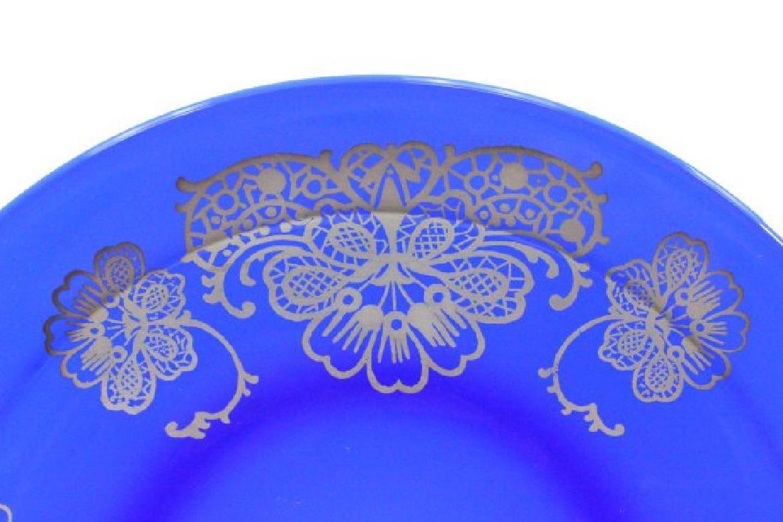 Set 15 Cobalt Blue Glass Plates - 3