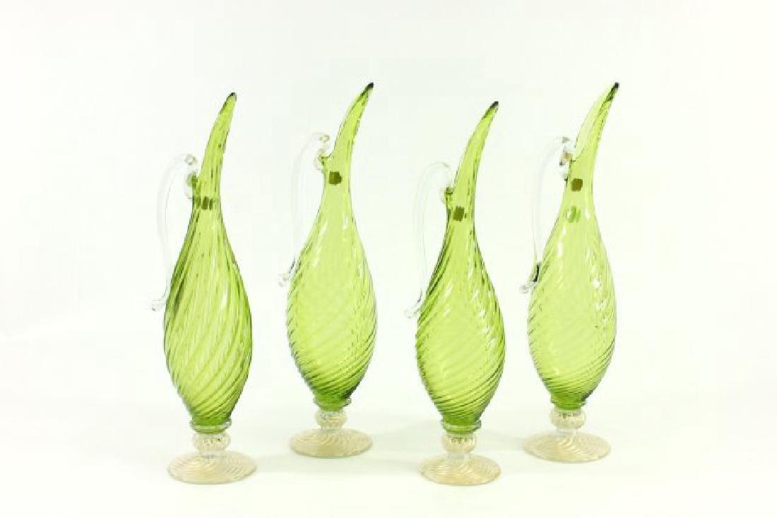 Lot 4 Mid-Century Italian Art Glass Ewers