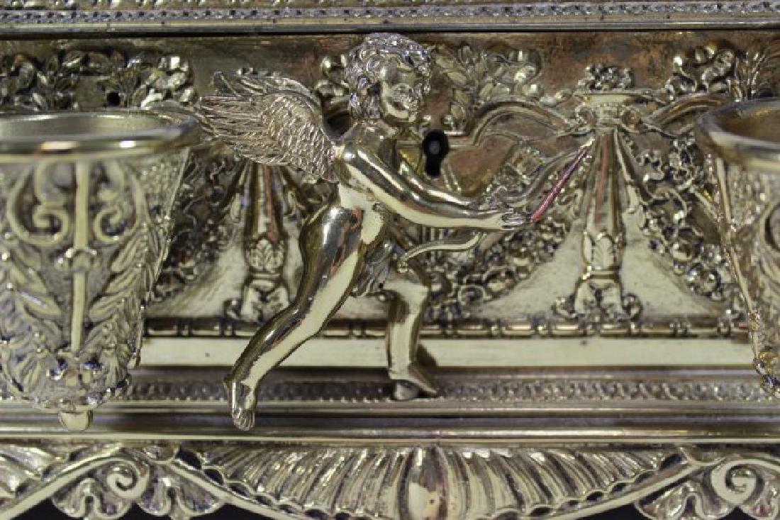 Bronze Figural Inkwell Desk Set - 9