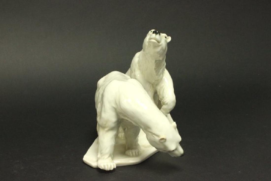 :Karl Ens Porcelain Grouping, 2 Polar Bears - 2
