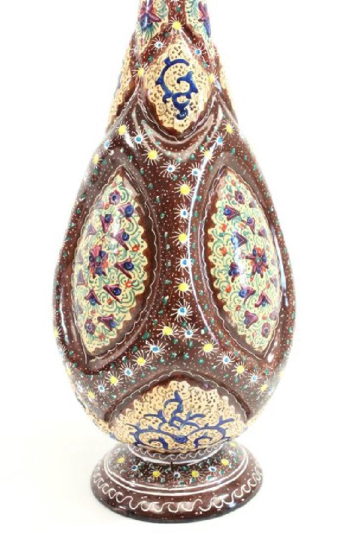 Pair Persian Enamel Vases - 4