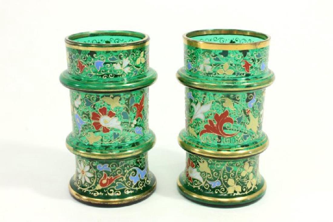 Pair Moser Vases