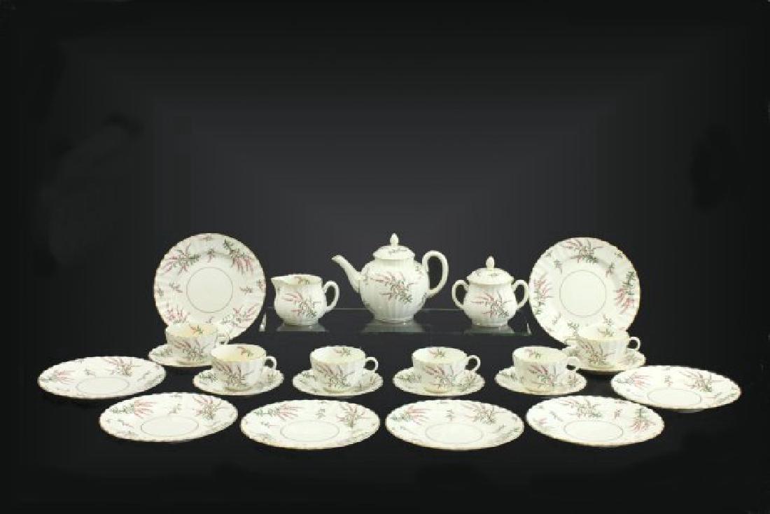 25-Piece Royal Worcester Dunrobin Pattern Tea Set