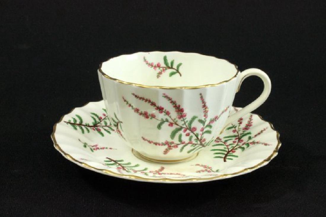 25-Piece Royal Worcester Dunrobin Pattern Tea Set - 4