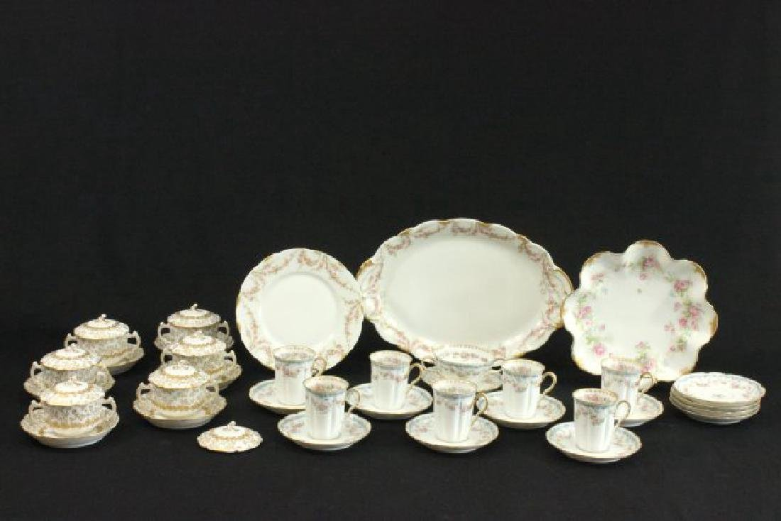 42 Pieces Haviland France Limoges Cups & Saucers