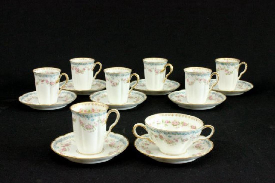 42 Pieces Haviland France Limoges Cups & Saucers - 2