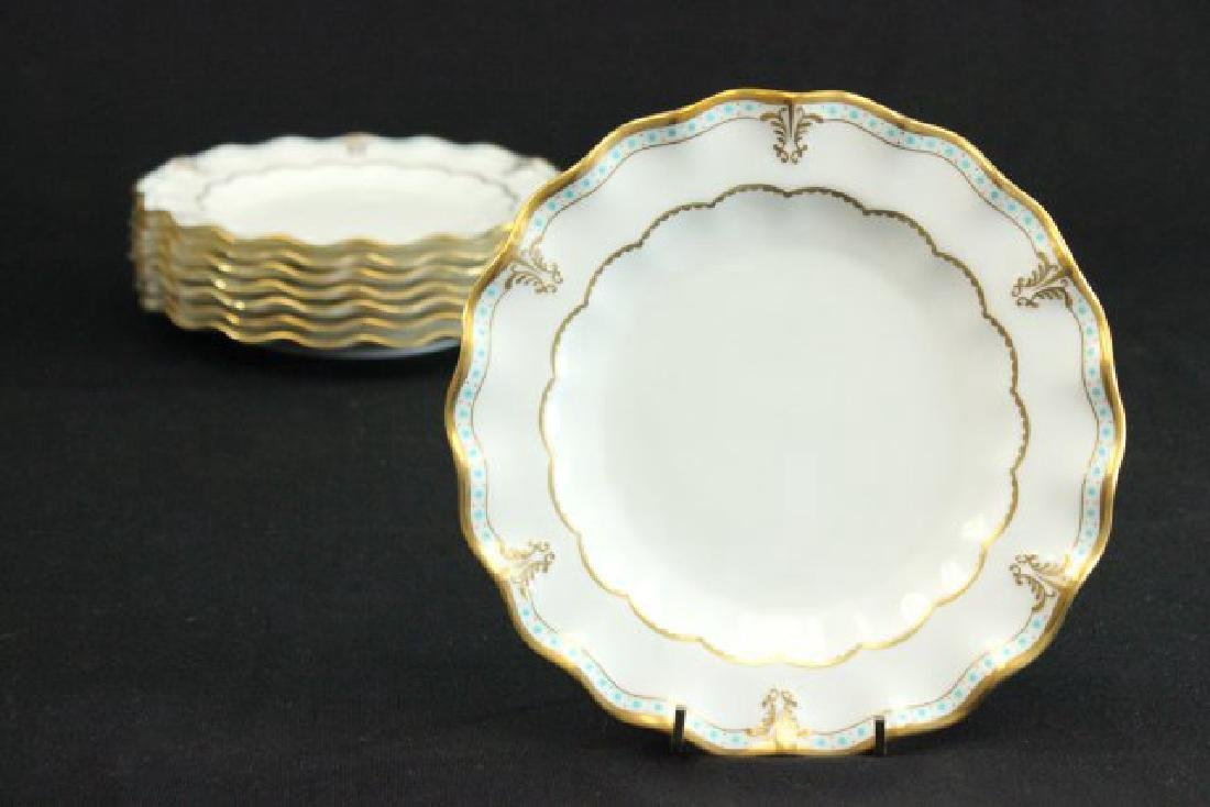 8 Royal Crown Derby Lombardy Pattern Salad Plates