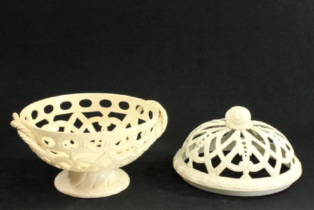Wedgwood Creamware Reticulated Fruit Bowl - 3