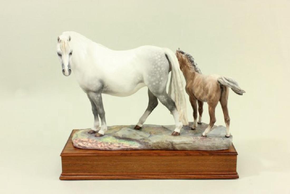 Porcelain Figure of Welsh Mare & Foal