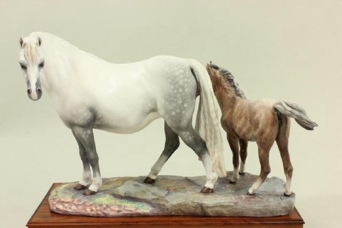 Porcelain Figure of Welsh Mare & Foal - 2