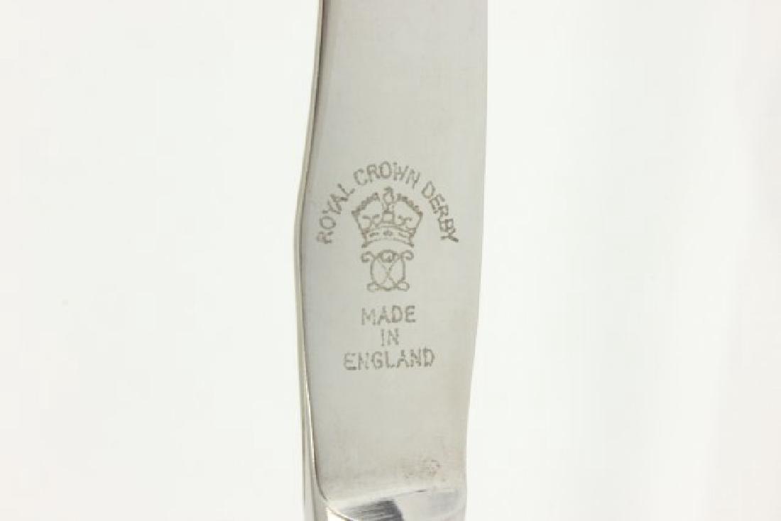 2 Sets Royal Crown Derby Porcelain Handle Knives - 8