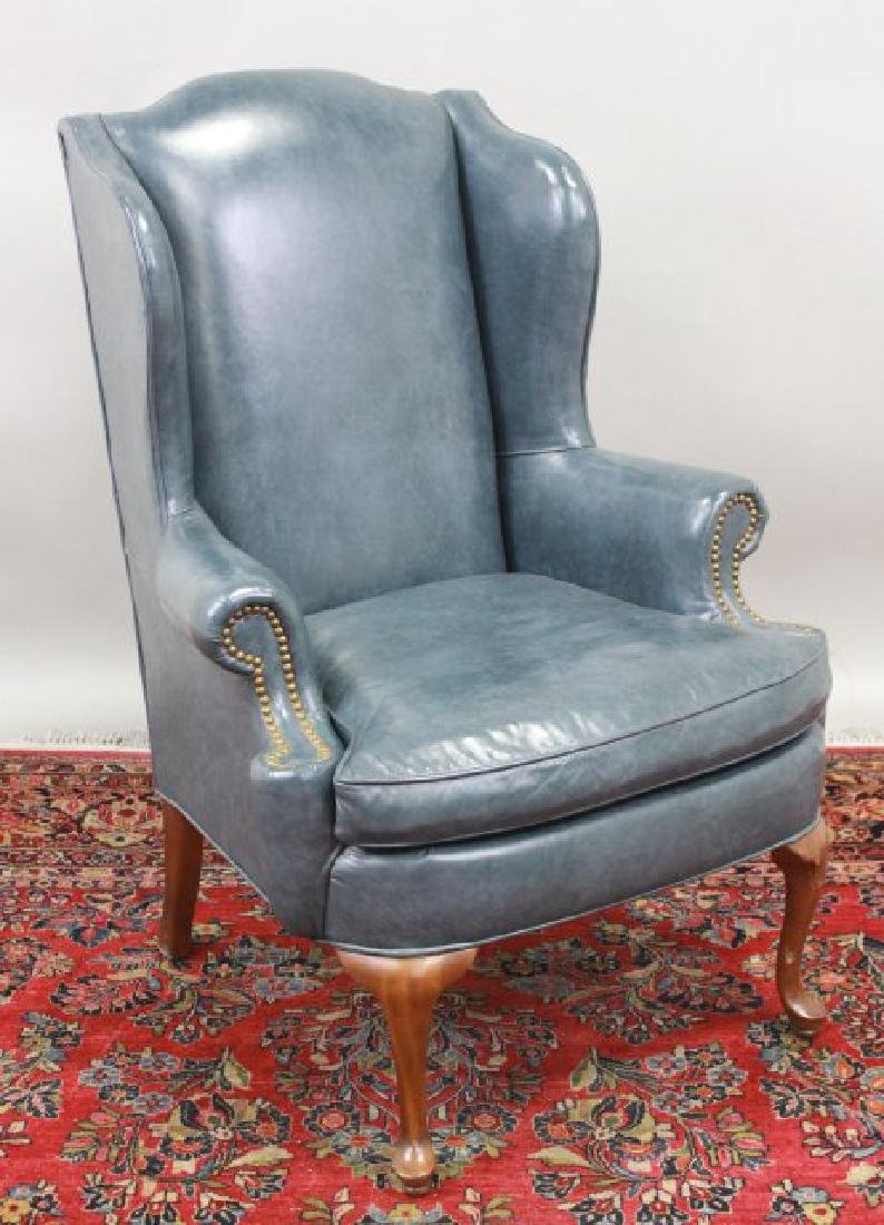 Queen Anne Style Cherry Wing Armchair
